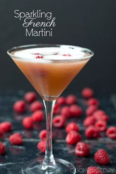 Impress your guests with this French martini champagne cocktail.