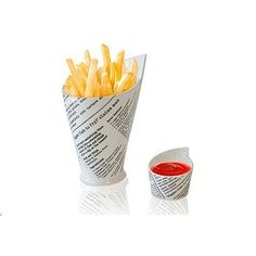 """French Fries Cup & Sauce Dishes""  by Colloco Homeware and Gifts. Fun and quirky, £8.95 from notonthehighstreet"