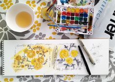 A peak inside an sketchbook... {alisa burke}