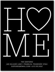 Homebound Heart - Moving Announcement Postcards - Baumbirdy - Black | www.TinyPrints.com