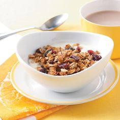 Good-Morning Granola Recipe -This is ridiculously easy to make and has lots of healthy ingredients. It's a great way to start your day or to keep you going. With pretty packaging, it makes a nice gift or bake sale item. —Mary Bilyeu, Ann Arbor, Michigan