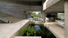 Tropical Minimalism: the Solis Ηouse byRenato d'Ettorre Architects   Yatzer ¬ Gorgeous gorgeous use of concrete nature and pools/ponds
