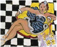Danseuse dans le Fauteuil, Sol en Damier (1942)