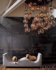 vintage chandelier from a mod Champs-Élysées salon.