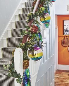 My Striped Stair Runner: Everything You Need To Know Plant Hanger, Stairs, Plants, Home Decor, Stairway, Decoration Home, Room Decor, Staircases, Plant