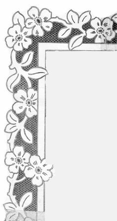 T T floral border Richelieu Cutwork Embroidery, Embroidery Needles, Cross Stitch Embroidery, Embroidery Patterns, Advanced Embroidery, Lace Painting, Parchment Craft, Cut Work, Leather Pattern
