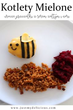 Cute meatballs made with ground meat, cheese and nori. Dinner for kids. Meat And Cheese, Ground Meat, Dinners For Kids, Cute Food, Food Styling, Food Art, Risotto, Food Photography, Lunch