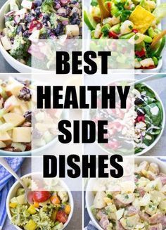 Delicious, healthy side dishes to go with any meal! Find vegetable, pasta, salads and potato side dishes for dinner or your next bbq, potluck or picnic. Dishes To Go, Dinner Dishes, Food Dishes, Veggie Dishes, Foil Packet Meals, Foil Packets, Healthy Sides, Healthy Side Dishes, Vegetarian Camping