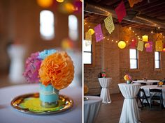 Cute Mexican-themed wedding with pretty table settings