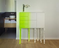 Asymmetrical Ombre Furniture - The Squid Cabinet by Moloform is Bright and Contemporary (GALLERY)