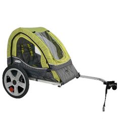 Fun Christmas Gifts for a Two-Year-Old Girl: a bicycle trailer, for her parents to take her around the eco-friendly way