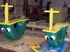 DIY one child rockers. Playground ideas backyard fun toddler toys DIY one child rockers. Diy Playground, Playground Design, Children Playground, Toddler Toys, Kids Toys, Outdoor Projects, Diy Projects, Project Ideas, Tire Craft