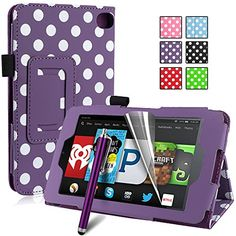 Pasonomi® Amazon Kindle Fire HD 6 Case - Premium Slim PU Leather Folding Cover Case for Amazon Kindle Fire HD 6 Inch 2014 Tablet with Auto Sleep/Wake Feature (Purple Dot) PASONOMI http://www.amazon.com/dp/B00Q2DZVJE/ref=cm_sw_r_pi_dp_f5hHub13PZ5VB