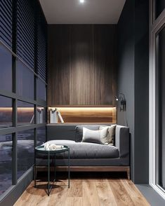 Ideas For Exterior House Gray Interiors Cozy Studio Apartment, Apartment Balcony Decorating, Apartment Design, Studio Apartments, Modern Interior Design, Interior Architecture, Small Balcony Decor, Balcony Ideas, Balcony Garden