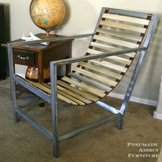 DIY Wood and Leather Sling Chair- www.pneumaticaddict.com