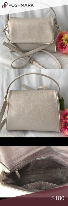 """Rand NWT Kate Spade Chester Street Miri handbag This is Brand New with Tag Authentic Kate Spade New York Chester Street - Miri  Details: Pebbled leather  Magnetic Flap top w/magnetic snap closure and is a zip pocket itself (like a secret pocket that stretch down deep to the bottom of the bag) top handle w/approx. 4""""drop 14K light gold plated hardware Inside: 1 zip pocket and 1 slide pocket Has a removable/adjustable shoulder strap w/approx. 21-23"""" drop Comes with a Care Card No dust bag kate…"""