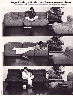 Ligne Roset 70's ad. Been wanting this Togo couch for years...