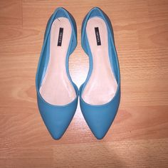 Forever 21 Pointed Ballet Flats Worn one time, Forever 21 ballet pointed flats in Sz 7! Great Turquoise Blue color! Forever 21 Shoes Flats & Loafers
