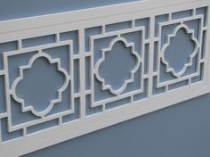 Quatrefoil Lattice Fretwork Panel by FretworksDesigns on Etsy Quatrefoil Pattern, Door Trims, Wardrobe Doors, Garden Trellis, Phi Mu, Dream Home Design, Architecture Details, Home Deco, College House