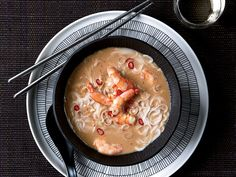 Thai Shrimp-and-Coconut Soup with Lemongrass | Top Chef winner Harold Dieterle's feel-good Thai coconut soup is flavored with chiles, ginger and lemongrass, and garnished with plenty of shrimp.