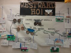 Westward Expansion Bulletin Board - Have kids make wagons. Or...a timeline and the students come up with pictures to represent the events.