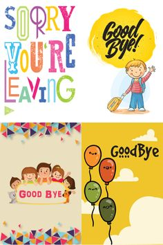 A sample of four designs from our Good Bye collection