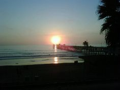 The San Clemente pier at sunset.