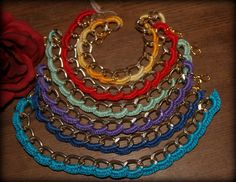 Hey, I found this really awesome Etsy listing at https://www.etsy.com/pt/listing/173153059/bracelets-chain-and-crochet