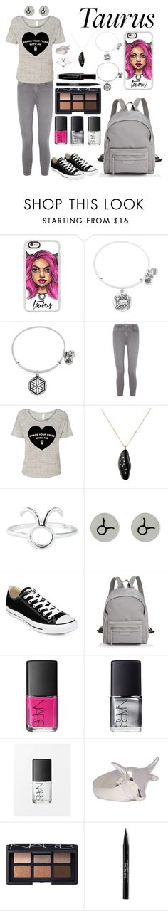 """""""Taurus"""" by mystic-punk ❤ liked on Polyvore featuring Casetify, Alex and Ani, L'Agence, Venyx, Rock 'N Rose, NOVICA, Converse, Longchamp, NARS Cosmetics and Joy Everley"""