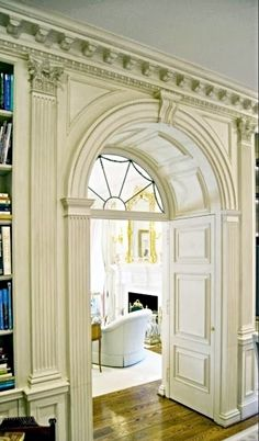 classic millwork with fabulous inset door