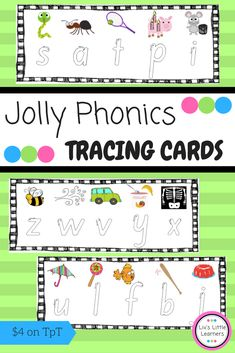 Browse over 60 educational resources created by Liv's Little Learners in the official Teachers Pay Teachers store. Jolly Phonics Songs, Teaching Phonics, Phonics Activities, Kindergarten Activities, Classroom Activities, Teaching Resources, Preschool Worksheets, Tracing Letters, Preschool Letters