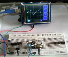 Make an Oscilloscope Using the SainSmart Mega2560 with the TFT LCD shield and the 3.5 color touch screen