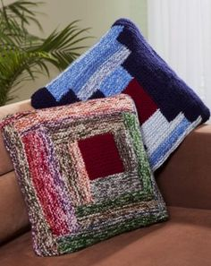 Log Cabin Pillows free pattern
