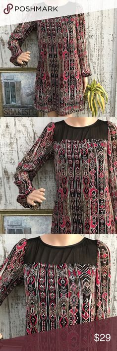 Charlotte Russe Boho Dress Charlotte Russe Boho Dress. Like New. Size Medium. Sheer black at the collar. On trend Style with a Gorgeous Print. Love this❤️ Charlotte Russe Dresses