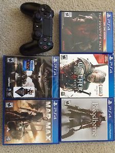 5 PS4 Games And Controller #Ps4 #Games #Controller #Sony #Playstation #Minecraft #Game #Ps4 #Gamer #Player