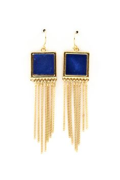 Navy Mother of Pearl Earrings | Awesome Selection of Chic Fashion Jewelry | Emma Stine Limited