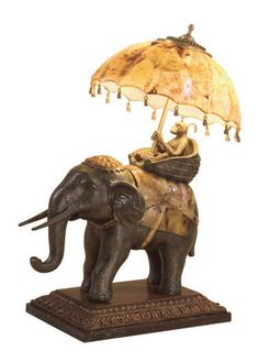 Maitland Smith Lamp - Elephant / Monkey / umbrella monkeys appear in many of their accessories and lamps