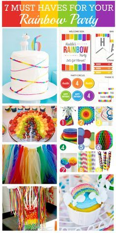 Rainbow-party-ideas.jpg 1,000×2,000 pixels