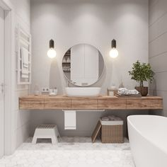 50 Ideas For Bathroom Design Sink Timber Vanity Bathroom Vanity Tops, Wood Bathroom, Grey Bathrooms, White Bathroom, Modern Bathroom, Bathroom Ideas, Bathroom Renovations, Simple Bathroom, Mirror Bathroom