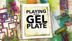 Gel printing with stencils tutorial sharing how to build up layers in an art journal by Carolyn Dube Stencil Printing, Gelli Plate Printing, Art Journal Techniques, Painting Techniques, Gelli Arts, Fabric Stamping, Plate Art, Thing 1, Art For Art Sake