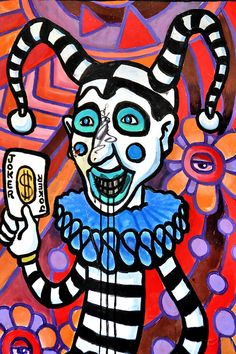 Jester Holding Joker Playing Card Mural in New Orleans, Louisiana Joker Playing Card, Playing Cards, Court Jester, Six Flags, Bourbon Street, 16th Century, Middle Ages, The Fool, Louisiana