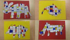 Art Activities For Kids, Art For Kids, Drawing Lessons, Art Lessons, Animal Art Projects, 5th Grade Art, Piet Mondrian, Kindergarten Art, Arts Ed
