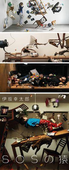 Os fotógrafos japoneses Takayuki Nakazawa and Hiroshi Manaka criaram esse ensaio mostrando modelos em situações de gravidade zero.