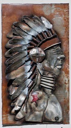 Metal sculpture by Joel Sullivan