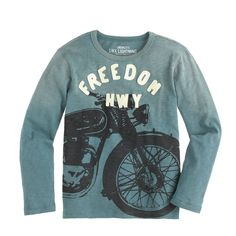 Boys' long-sleeve glow-in-the-dark motorcycle tee - graphics - Boys' tees, polos & tanks - J.Crew