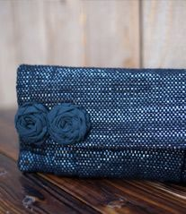 Rewind Clutch -- made from upcycled VHS tapes :)