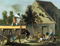 Les scieurs de long by Jean Tassel (1608-1667) – Musée des Beaux-Arts, Strasbourg.