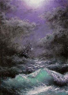 83  Shipwreck  5x 7  original giclee print by vladimirmesheryakov, $7.99
