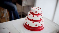 Three-tier red velvet cake - By Lorraine Pascale