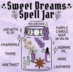 spell for sweet dreams spell tutorial Witch Spell Book, Witchcraft Spell Books, Wiccan Magic, Magic Spells, Healing Spells, Wicca Recipes, Potions Recipes, Dream Spell, Witchcraft Spells For Beginners